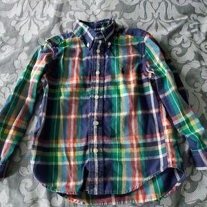 Ralph Lauren boys button down shirt size 5